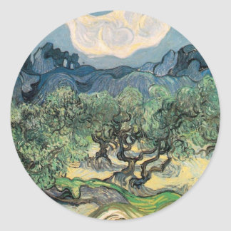 The Olive Trees Round Sticker