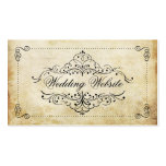 The Ornate Flourish Vintage Wedding Collection Pack Of Standard Business Cards