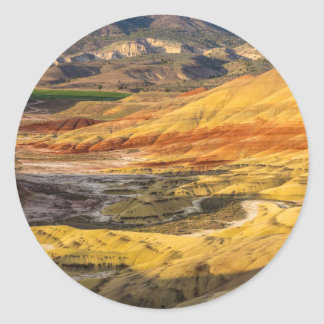 The Painted Hills In The John Day Fossil Beds 3 Round Sticker