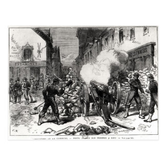 The Paris Commune: A Barricade at Issy Postcard