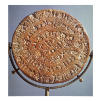The Phaistos Disc, with unknown significance Poster