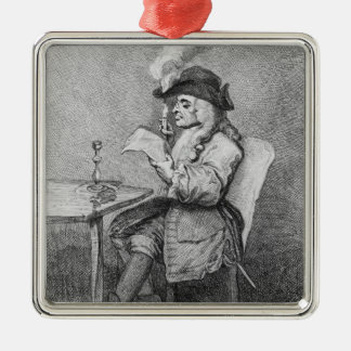 The Politician, etched by John Keyse Sherwin Silver-Colored Square Decoration