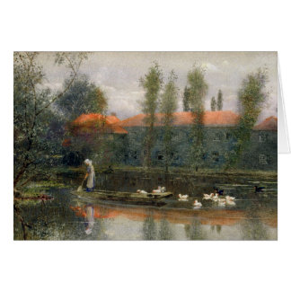 The Pond of William Morris Works at Merton Abbey ( Greeting Card