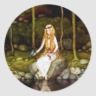 The Princess in the Forest Round Sticker