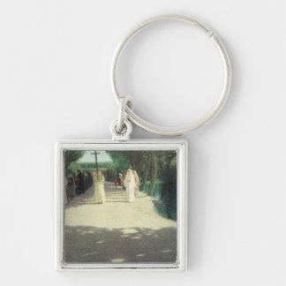 The Procession, 1892-95 Silver-Colored Square Key Ring