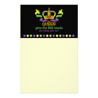 The Queen gets the BIG beads Customised Stationery