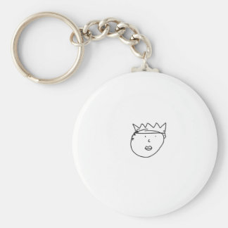 The Queen of England Drawing by Han Basic Round Button Key Ring