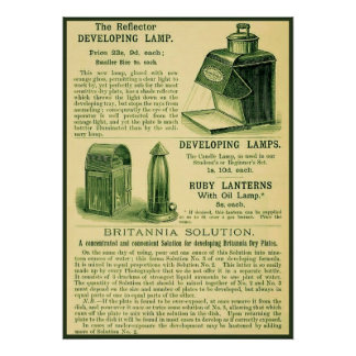 The Reflector Developing Lamp ~ Vintage Ad Poster