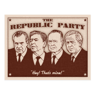 The Republic Party Postcard