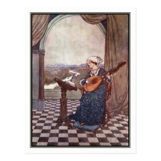 The Ringing Lute by Edmund Dulac Postcard