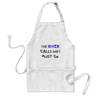 the river calls standard apron