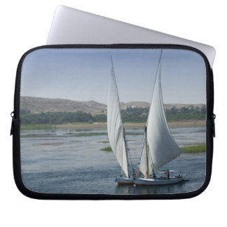 The River Nile and sailing boats used as Laptop Sleeve