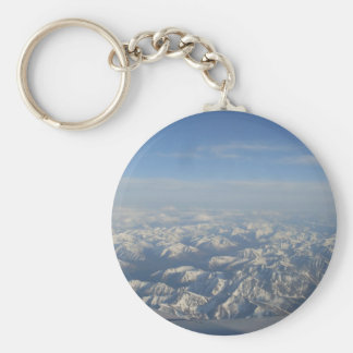 The Rocky Mountains from Above Basic Round Button Key Ring