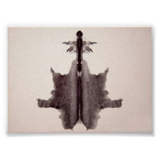 The Rorschach Test Ink Blots Plate 6 Poster