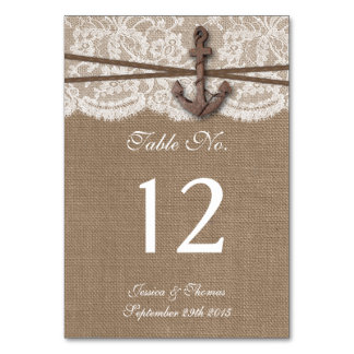 The Rustic Nautical Anchor Wedding Collection Table Card