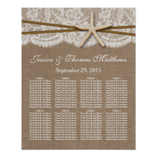 The Rustic Starfish Beach Wedding Collection Poster