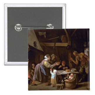 The Satyrs and the Family 15 Cm Square Badge