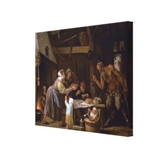 The Satyrs and the Family Stretched Canvas Print