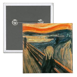 The Scream Edward Munch Screaming 15 Cm Square Badge