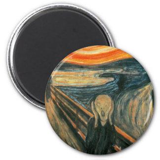 The Scream Edward Munch Screaming 6 Cm Round Magnet