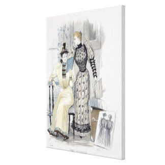 The Season, fashion plate for 'The Queen', Septemb Canvas Prints