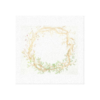 The Seasons Wreath: Ash Tree Stretched Canvas Print