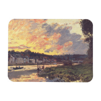 The Seine at Bougival in the Evening Rectangular Photo Magnet