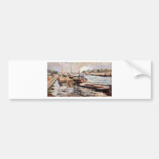 The Seine by Armand Guillaumin Bumper Sticker