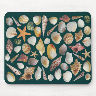 The Shell Collector Navy Mouse Pad