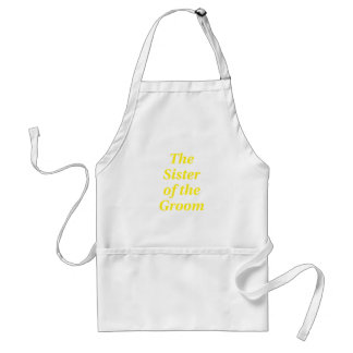 The Sister of the Groom Standard Apron