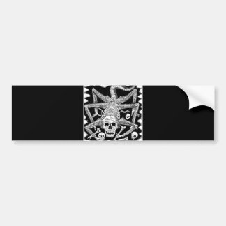 The Spider Skeleton Bumper Sticker