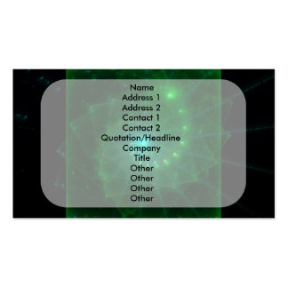 """""""The Square Green Worm"""" Fractal Art Pack Of Standard Business Cards"""