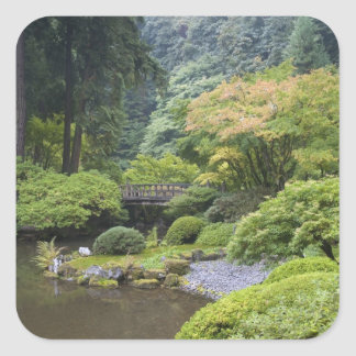 The Strolling Pond with Moon Bridge Square Sticker