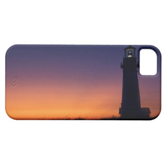 The sun ball drops down on the colorful horizon barely there iPhone 5 case