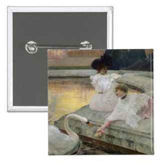 The Swans, 1900 15 Cm Square Badge