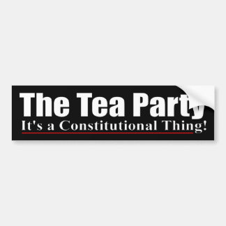The Tea Party - Anti Obama Bumper Sticker