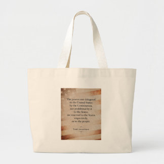 The Tenth Amendment Jumbo Tote Bag