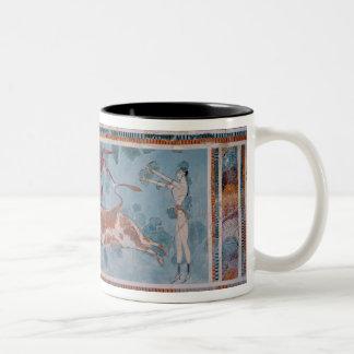 The Toreador Fresco, Knossos Palace, Crete Two-Tone Mug