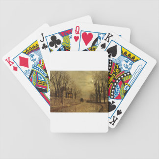 The Turn of the Road by John Atkinson Grimshaw Bicycle Poker Cards