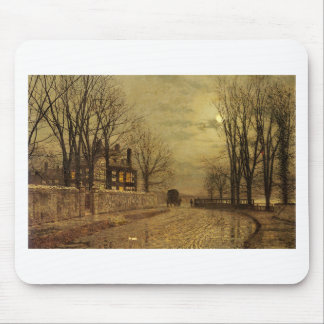 The Turn of the Road by John Atkinson Grimshaw Mouse Pad