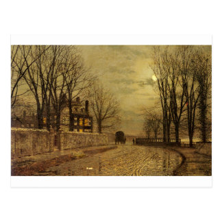 The Turn of the Road by John Atkinson Grimshaw Postcard