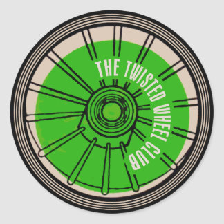 The Twisted Wheel Club Round Sticker