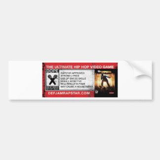 The Ultimate Hip-Hop Video Game Bumper Sticker
