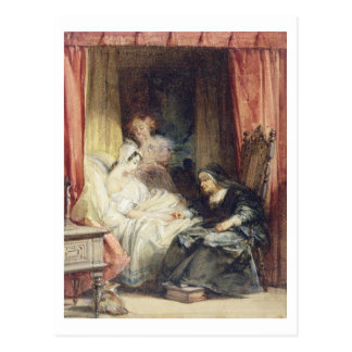 The Use of Tears, 1827 (w/c and bodycolour over gr Postcard