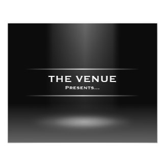The Venue Presents - Blue 11.5 Cm X 14 Cm Flyer