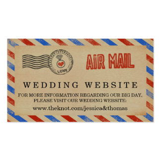 The Vintage Airmail Wedding Collection Pack Of Standard Business Cards