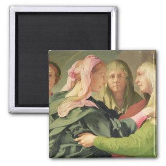 The Visitation (detail of 60438) Square Magnet