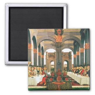 The Wedding Feast Square Magnet
