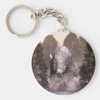 The White Buffalo Basic Round Button Key Ring