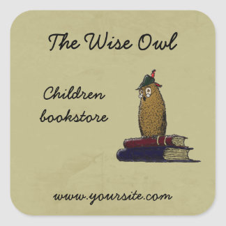 The Wise Owl Square Sticker
